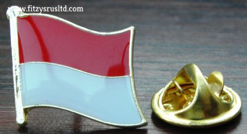 Monaco Country Flag Lapel Hat Cap Tie Pin Badge Principatu de Mnegu Principaut